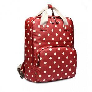 Retro ruksak červený